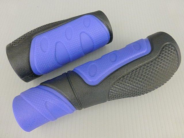 《意生》黑藍下標區_一長一短CKC雙色人間肉球手握 凹凸點設計防滑舒適好握不黏手 減壓輕鬆好配色 四色可選把手握把