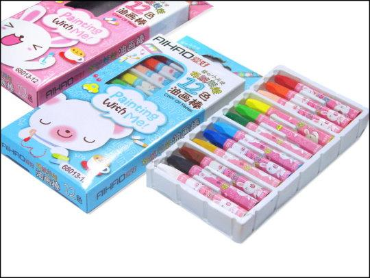 《清倉鋪》 12色油畫棒 24盒一組 買四組最便宜平均一盒只要28元