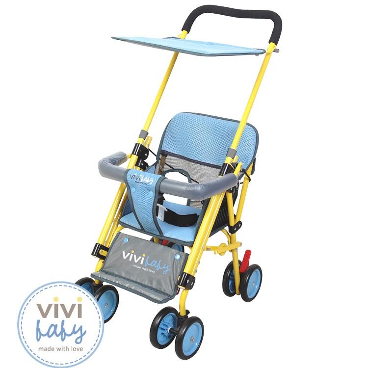 ViViBaby - Easy Go 嬰兒座椅推車(機車椅推車)  黃藍/黃咖