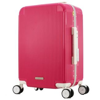 日本 LEGEND WALKER 5085-47-19吋 PC+ABS鋁框輕量登機箱 木莓粉紅
