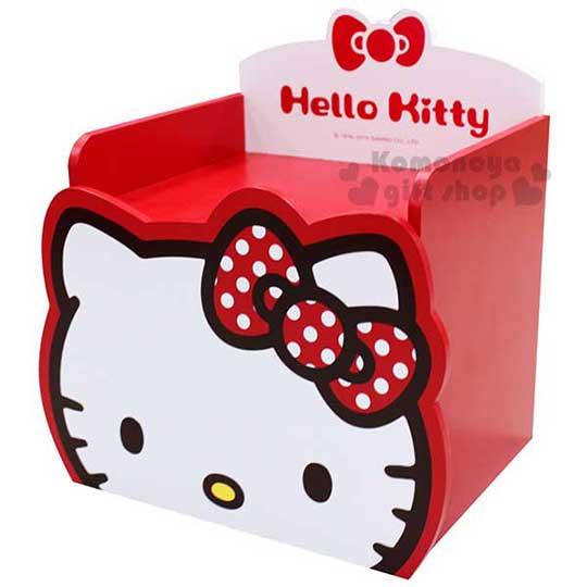 〔小禮堂〕Hello Kitty 單抽收納盒~紅.大臉.點點蝴蝶結.KT~0195B~