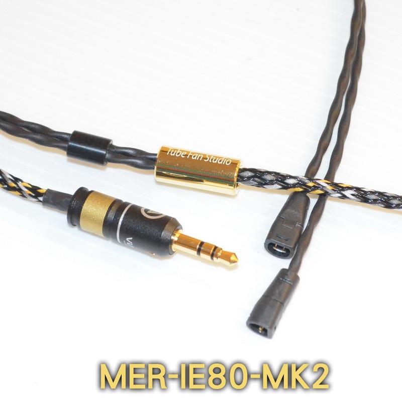 志達電子 MER-IE80-MK2 管迷 德國Mundorf 金銀合金線蕊 Sennheiser IE8 IE80 升級線 耳機 發燒