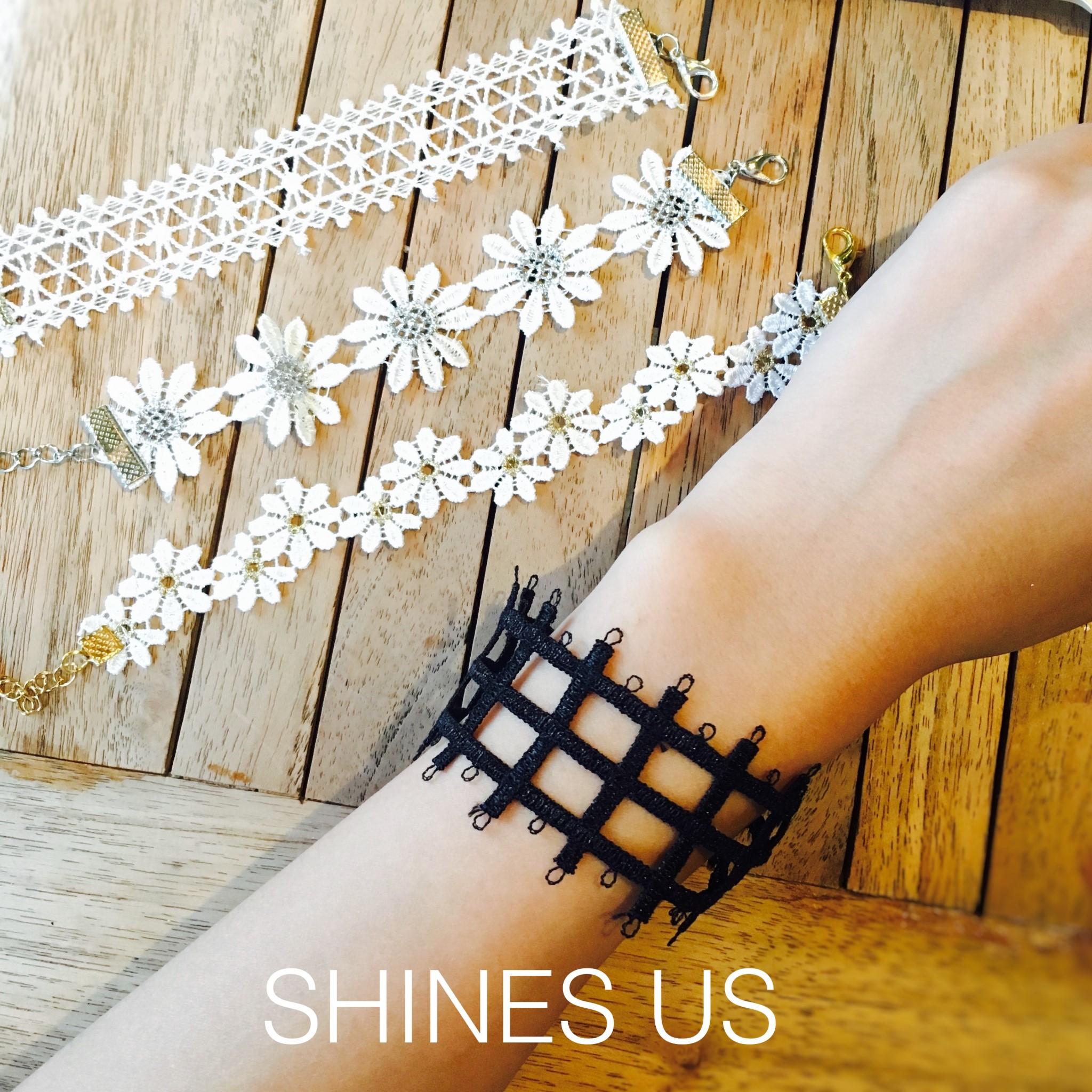 【SHINES US】正韓 蕾絲當道手環(4款)手鍊手環