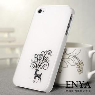 iPhone5S 馬卡龍色系 鹿 手機殼 Enya恩雅(郵寄免運)