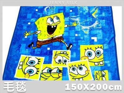 【名流寢飾家居館】海綿寶寶.舒活.高密度新合纖厚毛毯.全程臺灣製造