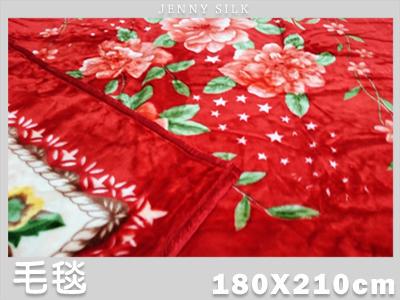 【名流寢飾家居館】喜事紅.舒適柔軟雙層厚毛毯.雙面花色.180X210cm