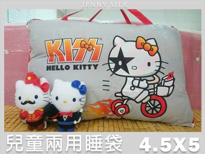 【名流寢飾家居館】熱火.Hello Kitty.兩用鋪棉型兒童睡袋.全程臺灣製造