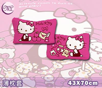 【名流寢飾家居館】Hello Kitty.我的遊戲房.薄枕頭套.全程臺灣製造.單件