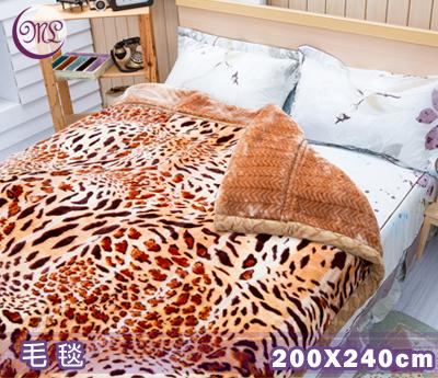 【名流寢飾家居館】Royal Duck.日本超極細合纖毛毯.金豹天下.200*240cm
