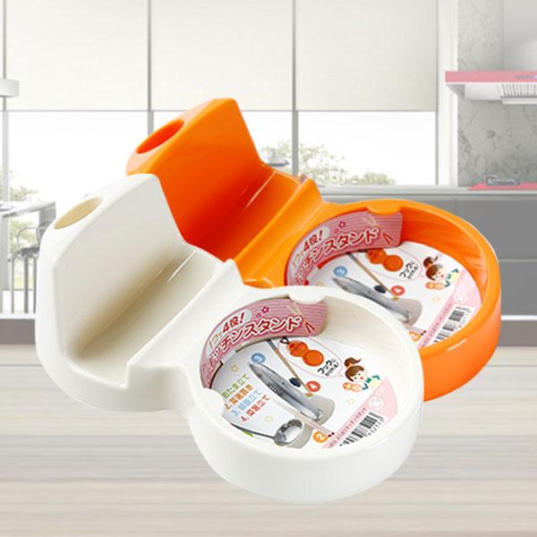 BO雜貨【SV8019】日本製 多功能鍋蓋架 廚房鍋蓋湯勺 筷子收納架 四用廚具置物架