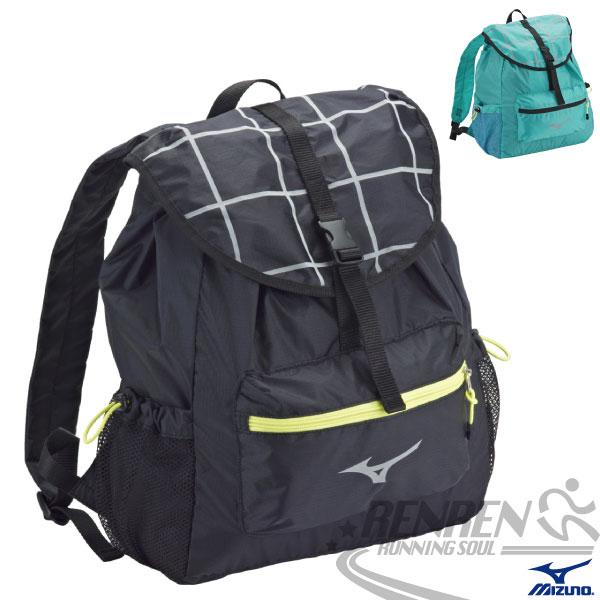 MIZUNO 美津濃 女用後背包 (2色) 輕便休閒風 防水細格紋布