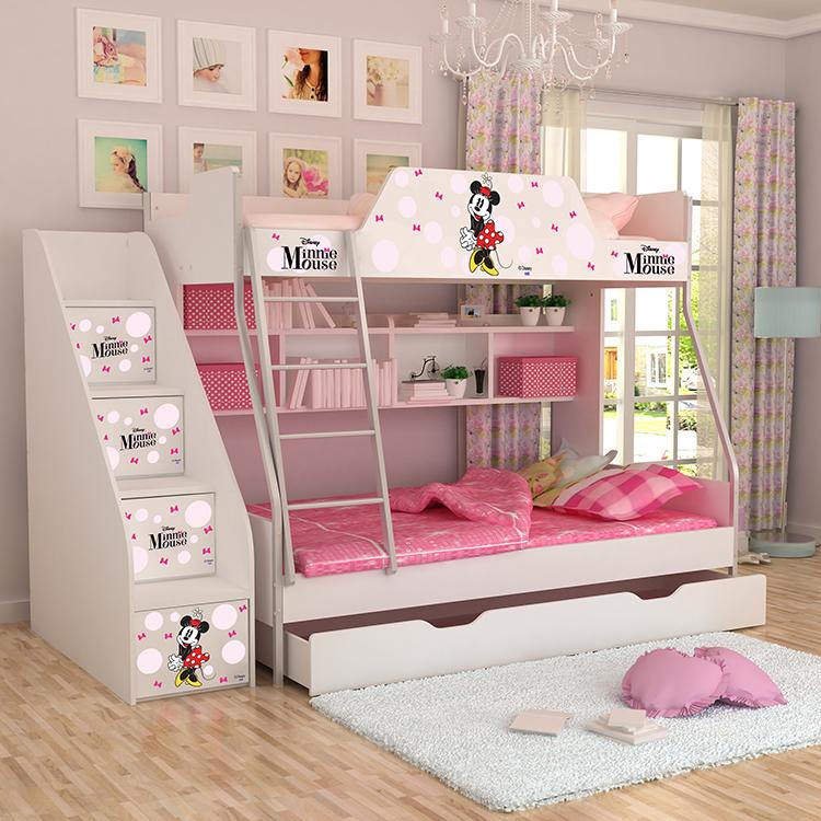 [首雅傢俬]MIT迪士尼商品 米妮 單人上下舖床架(不含梯櫃.下拖櫃)