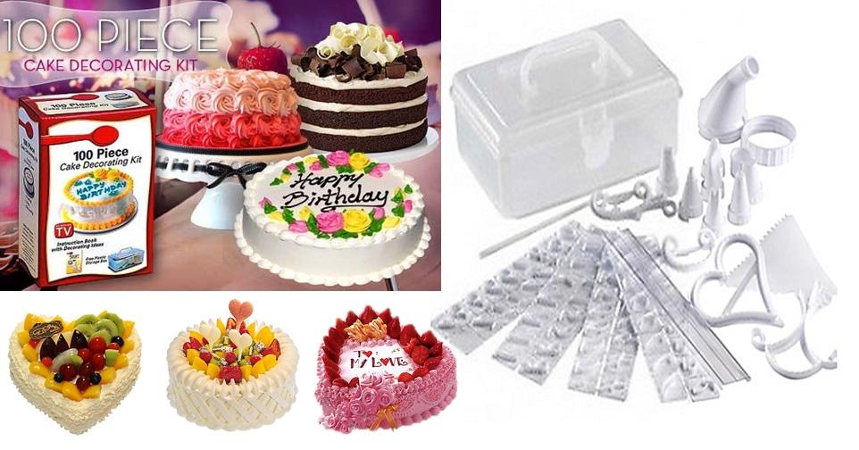 Shopzyfrenzy rakuten 100 piece cake decorating kit for 100 piece cake decoration kit