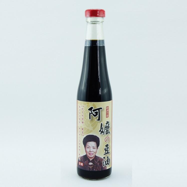 【阿嬤の豆油】傳統天然純釀黑豆醬油(420ml/瓶) 以最自然的方式釀製,非一般化學醬油