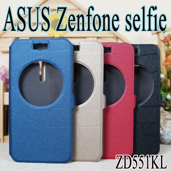 【金砂】ASUS Zenfone Selfie ZD551KL Z00UD 視窗感應翻頁式皮套/智能休眠喚醒/書本式翻頁皮套/保護皮套/支架斜立展示