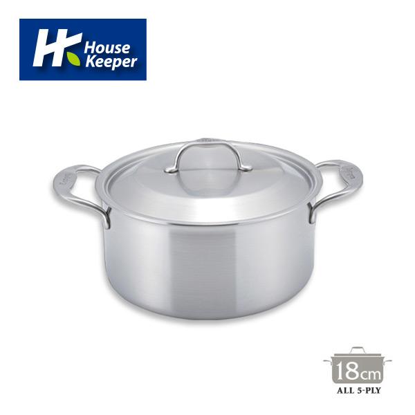 [妙管家]Bergen系列 韓國五層複合金不鏽鋼雙柄湯鍋18cm