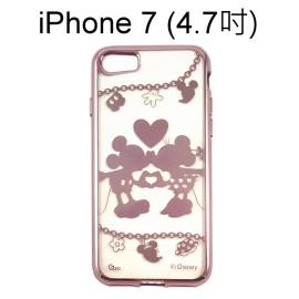 迪士尼電鍍軟殼[項鍊]米奇米妮 iPhone 7 (4.7吋)【Disney正版授權】