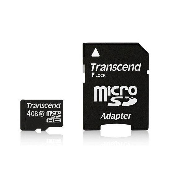 *╯新風尚潮流╭*創見 MicroSDHC記憶卡 4G 4GB C10 SD小卡 TS4GUSDHC10