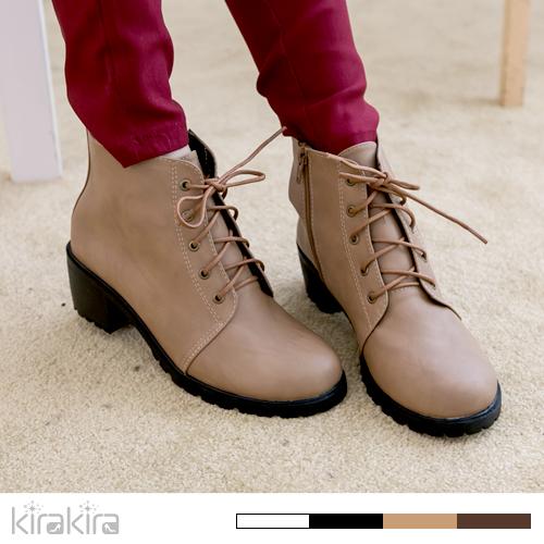 牛津 靴 -MIT英倫典藏簡約綁帶短靴