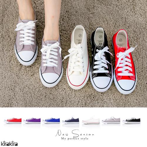 帆布鞋  SALE 經典款百搭平底帆布休閒鞋 偏小