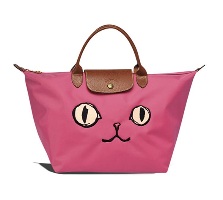 Longchamp 1623 托特包 短提小號實用包貓咪款