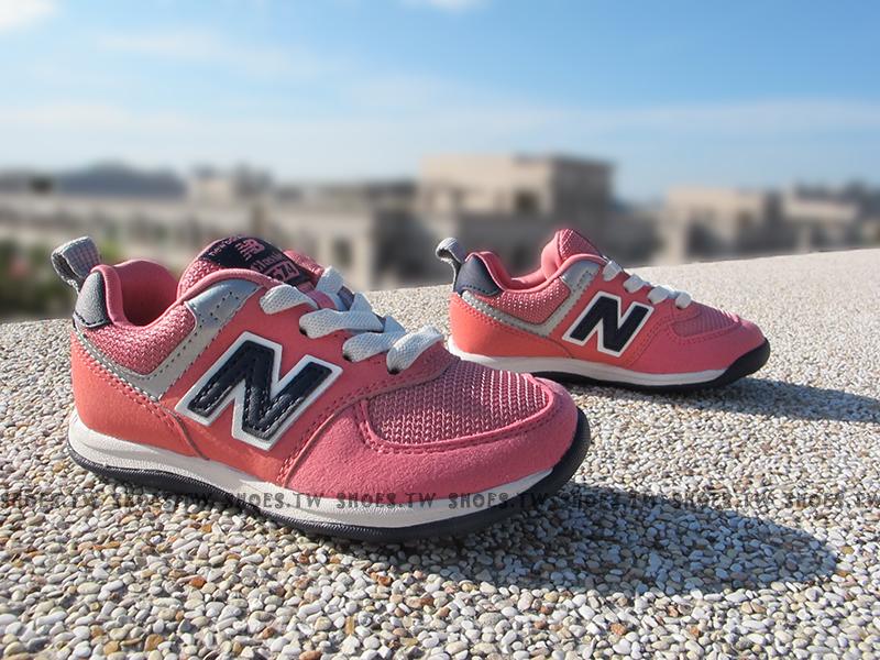 Shoestw【KS574MPI】NEW BALANCE 574 童鞋 運動鞋 小童 粉紅 麂皮 寬楦