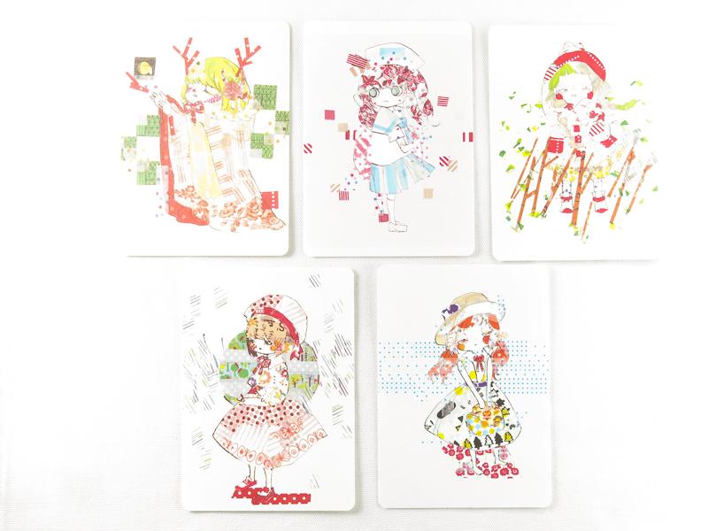 *小徑文化* | 台灣原創 | 魟魚 - 《穗穗們》紙膠帶拼貼系列明信片組(五張一組)