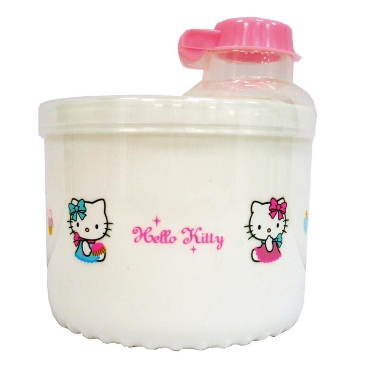 佳美 - Hello Kity凱蒂貓旋轉奶粉盒-白色