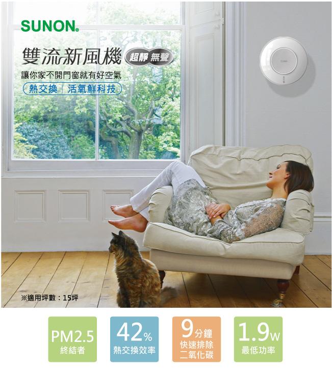 【Ambi-Hi安比好】SUNON 建準 Flow2 One 雙流新風機 (來電另有專案優惠價)