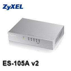 [NOVA成功3C]ZyXEL合勤 ES-105A v2 5埠網路交換器  喔!看呢來