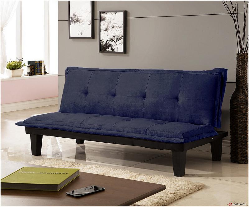 !!新生活家具!! 布沙發床 藍色 黑色 紅色 沙發床 三人位沙發床 限時特價 伊梧奺 非 H&D ikea 宜家