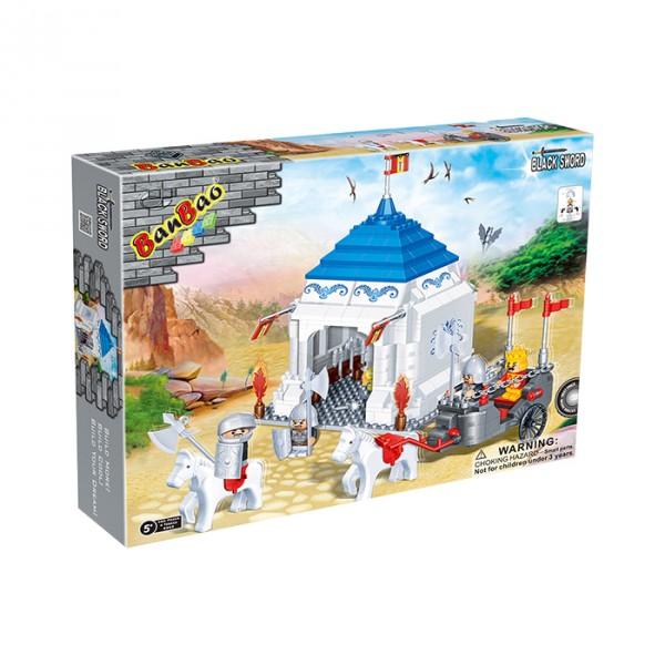 【BanBao 積木】城堡系列-蒙古包 8263  (樂高通用) (單筆訂單購買再加送積木拆解器一個)