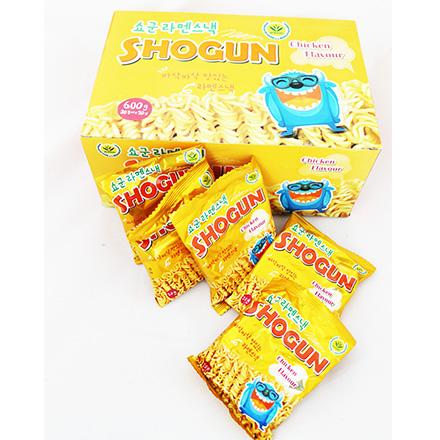 [敵富朗超市]韓國 SHOGUN ~怪獸香脆雞汁點心麵(30包/盒)