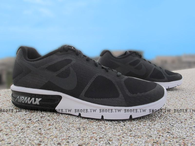 Shoestw【719912-009】NIKE AIR MAX SEQUENT 氣墊 慢跑鞋 黑白 男生