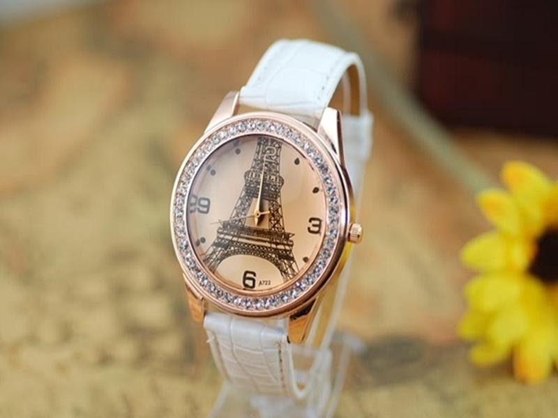 《316小舖》【PG01】(時尚石英手錶-巴黎鐵塔造型手錶-單件價 /男生手錶/女生手錶/生日禮物/聖誕節禮物/耶誕節禮物/男女錶)