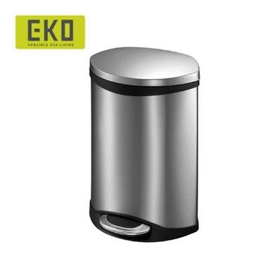 EKO海貝靜音垃圾桶 6L - 銀色