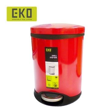 EKO海貝靜音垃圾桶 6L - 鮮豔紅