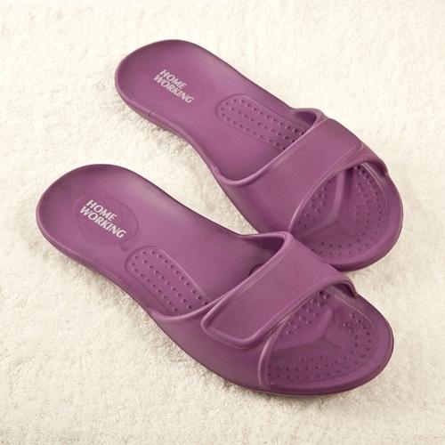 【HOME WORKING】 EVA環保室內拖鞋-紫色