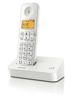Philips 飛利浦 無線電話 (白色) -  D2001W