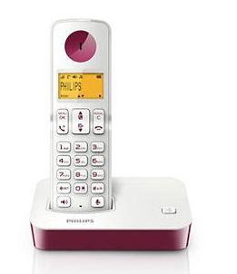 Philips  飛利浦 無線電話 (紫色) - D2001WP
