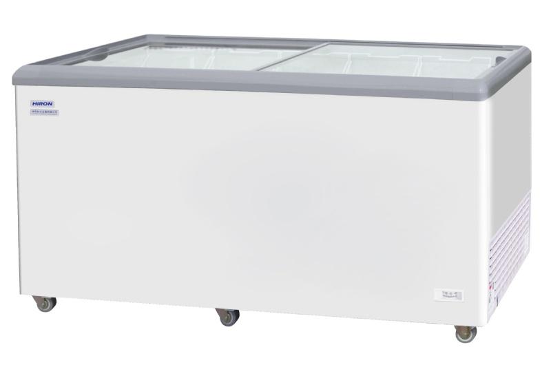 HiRON 海容 650公升 玻璃推拉式冷凍櫃 HSD-658 活動腳輪、電源顯示燈、溫控旋鈕器 有霜制冷系統,溫控橫跨冷藏冷凍範圍 : +5 ~ -28℃(調節式溫度控制)