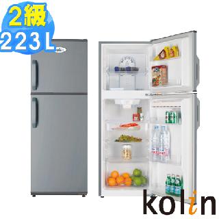 歌林KOLIN 223L雙門風扇式電冰箱 KR-22201 ※馬達、壓縮機三年保固※