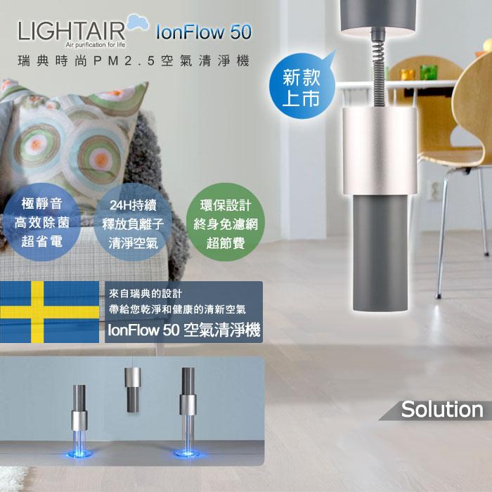 領券9折現折  瑞典LightAir IonFlow 50 Solution PM2.5 吊頂式精品空氣清淨機 適用15坪 總代理保固三年 優惠券代碼:MGKL-6PAY-M6X7-ZQ6N