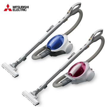 MITSUBISHI 三菱電機紙袋式吸塵器TC-F125JTW  透明藍/玫瑰粉