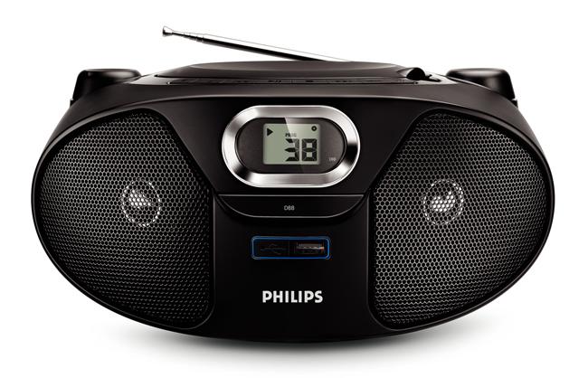 PHILIPS飛利浦 AZ382 黑旋風USB手提音響 DBB動態低音增強