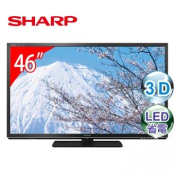 SHARP 夏普 46吋 3D 四原色 LED 液晶電視 LC-46G7AT ★2014年新機上市! 日本進口 Quattron四原色技術