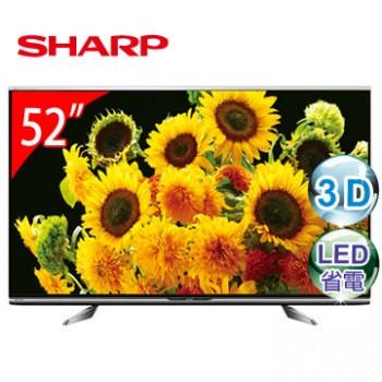 SHARP 夏普 52吋 蛾眼3D四原色LED電視 LC-52XL10T ★日本製造 , 2014年新機上市!!
