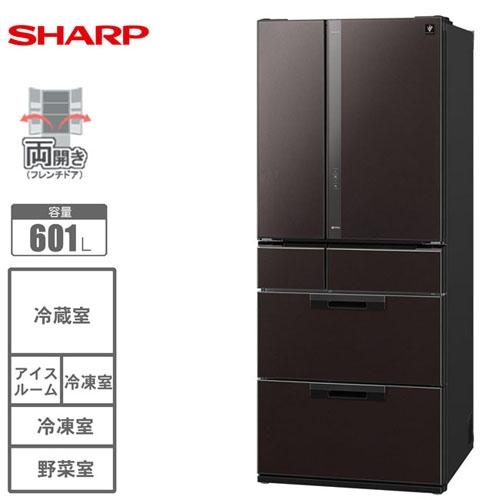 SHARP 夏普 日本原裝 601L 6門 玻璃鏡面對開冰箱 SJ-GF60X ★夏季盛會2014/7/30前買就送氣旋式吸塵器