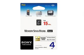 SONY MS-M4 Memory Stick Micro(M2) 記憶卡 內建 4GB 的儲存容量