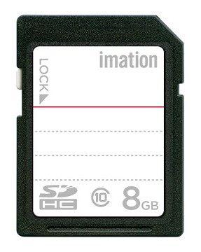 怡敏信imation 8GB class 10 SDHC 記憶卡 高速讀寫,大幅縮短檔案傳輸時間